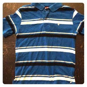 Wrangler polo blue stripes size 8 medium
